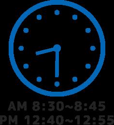 AM8:30~.PM12:40~