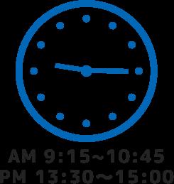 AM9:15~.PM13:30~